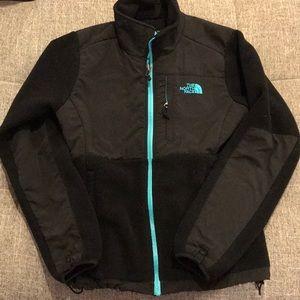 North Face Women's Denali Jacket Black Blue Size S